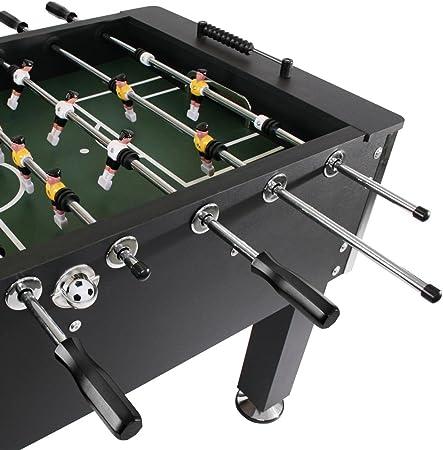 Jago - Futbolín de madera y altura regulable – color negro: Amazon.es: Juguetes y juegos