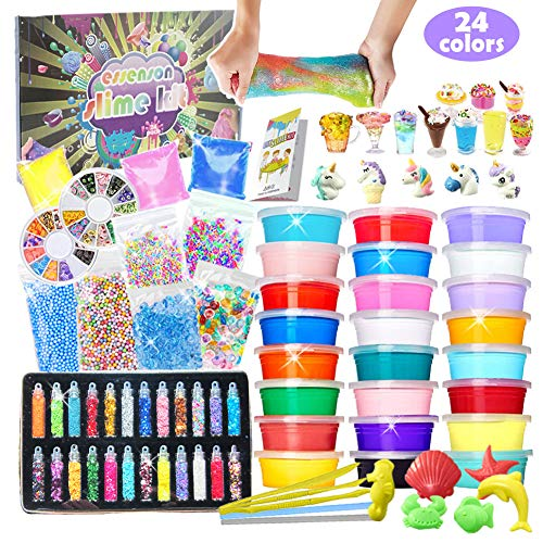 DIY Slime Kit for Girls & Boys - Slime Supplies with 24 Colors Only $10.50