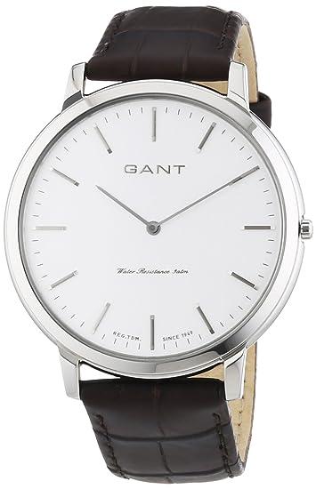 GANT HARRISON - Reloj Analógico de Cuarzo para Hombre, correa de Cuero color Marrón: Amazon.es: Relojes