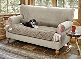 Orvis Grip-Tight Quilted Furniture Protector/Only Loveseat Protector, Brown Tweed Review