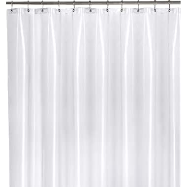 Utopia Bedding Heavy Duty Clear Shower Curtain Liner Mildew Resistant 72 by 72 Inches 10 Gauge - Odor Less and Non-Toxic - Rust Proof Grommets