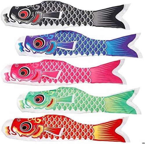 日本のコイ吹き流しストリーマー魚旗凧こいのぼりこいのぼり GBYGDQ (Color : Blue)