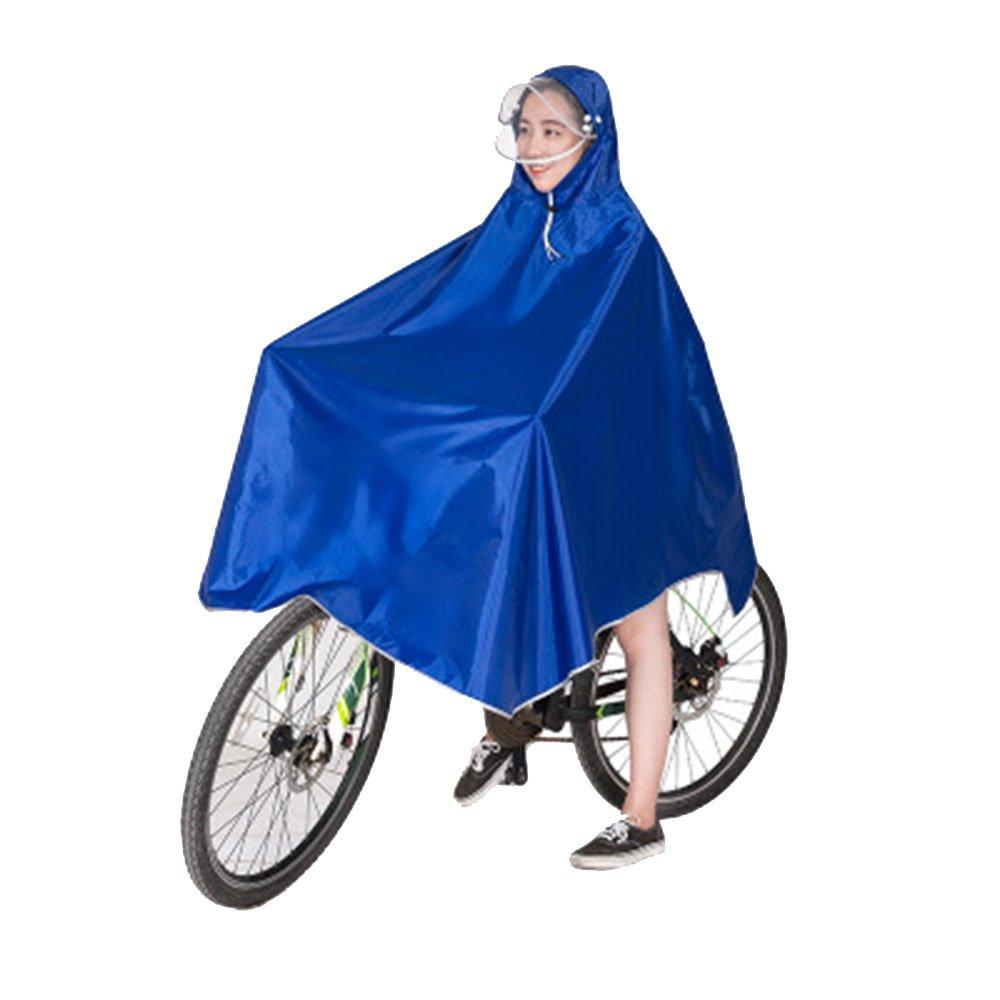 Poncho Impermeable, Chubasquero Poncho Portátil Transpirable, para Caminar por la Montaña, Acampar, andar en Bicicleta, Pescar(Azul) vientiane