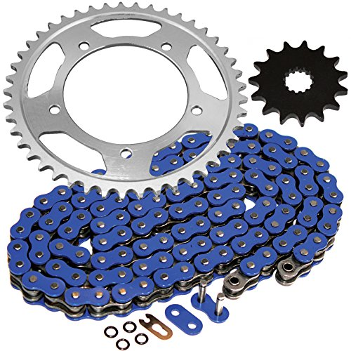 (Caltric Blue O-Ring Drive Chain & Sprockets Kit Fits SUZUKI 600 GSX-R600 GSXR600 2001-2005)