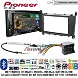 Volunteer Audio Pioneer AVH-501EX Double Din Radio Install Kit with DVD/CD Player Bluetooth Fits 2005-2007 Mercedes C Series