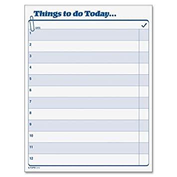 Amazon.Com : Tops Daily Agenda Things To Do Today Pad, 8.5 X 11