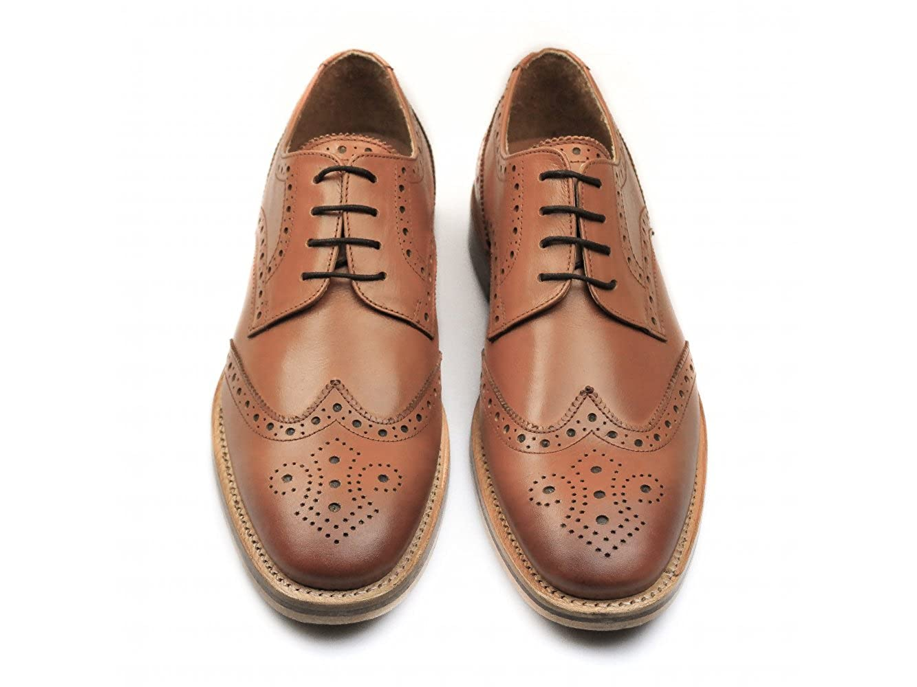c4532f4d CATESBY SHOEMAKERS Surrey Mens Leather Goodyear Welted Brogue Shoes Tan:  Amazon.co.uk: Shoes & Bags