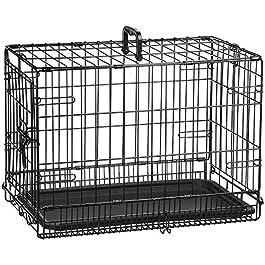 AmazonBasics Single-Door & Double-Door Folding Metal Dog Crate Kennel