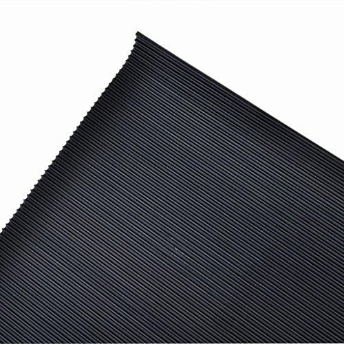 vidaXL Anti-Slip Rubber Safety Floor Mats Fine Ribbed Door Rug Home Carpet 7' x 3' by vidaXL (Image #2)