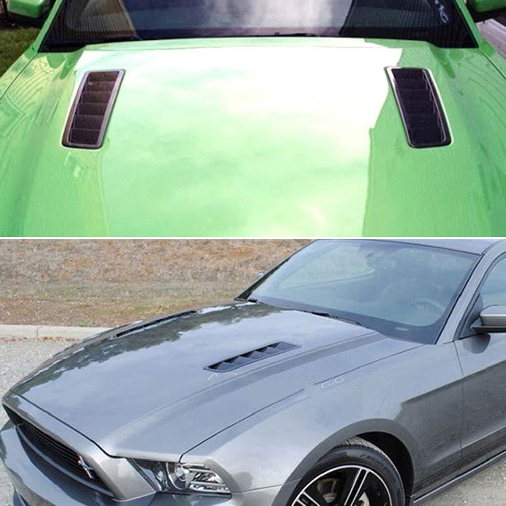 lymty 2PCS Universal ABS Kaltluftstrom-Eingang Fitment Auto Hauben Vent Vent Luftstrom Luftstrom Vents Abdeckung f/ür Auto SUV LKW