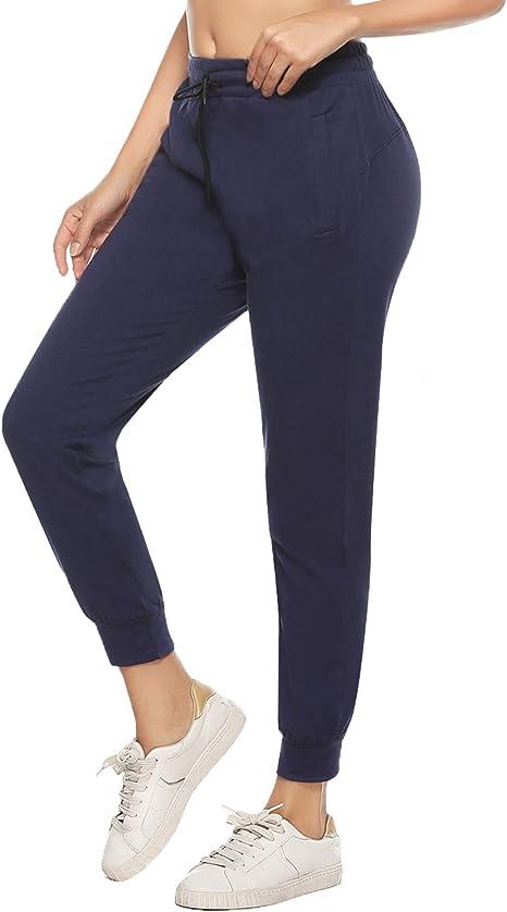 DAFENP Pantaloni Tuta Donna Sportivi Jogging Pantaloni Yoga Fitness Cotone Morbidi Slim Fit Pantaloni Casual Donne Piede del Fascio