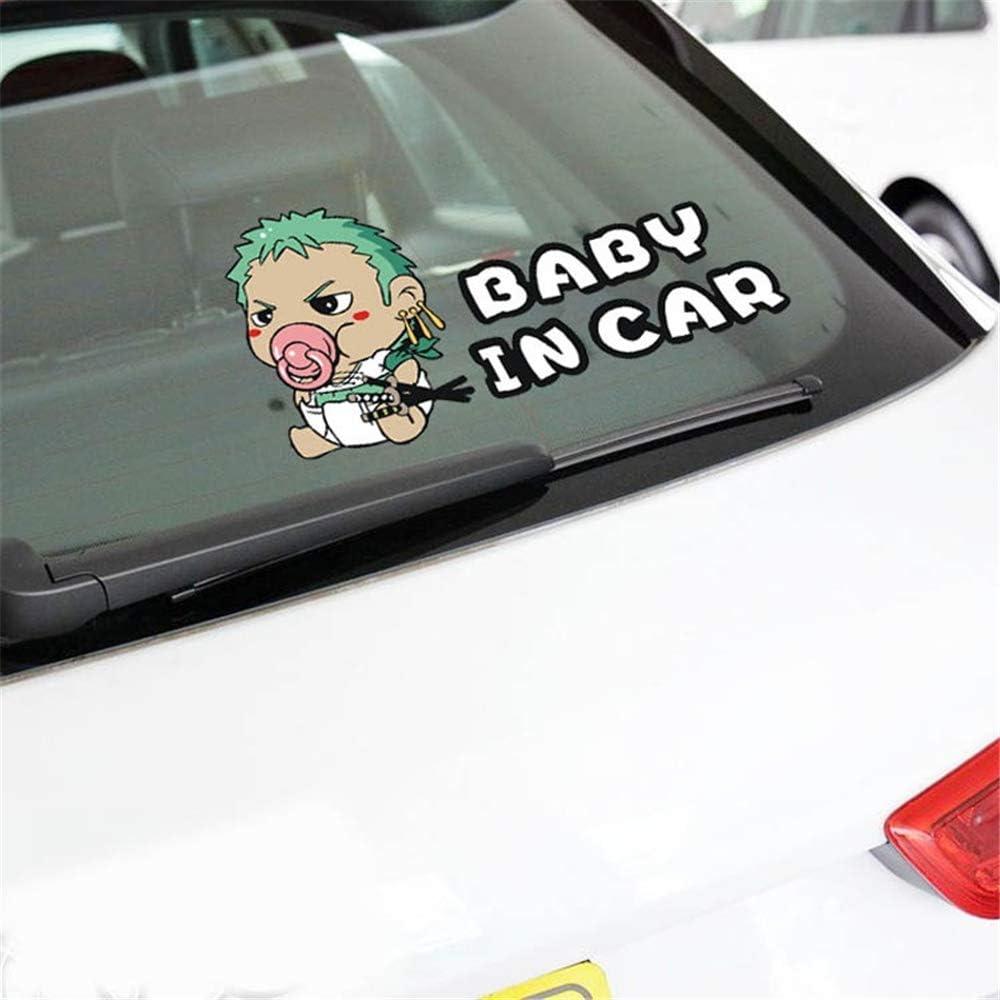 Adesivo per auto Sauron One Piece Adesivo per auto Baby in auto Avvertimento Adesivi per auto cartoon Adesivi per bambini Baby on Board Accessori per auto Kia Ford