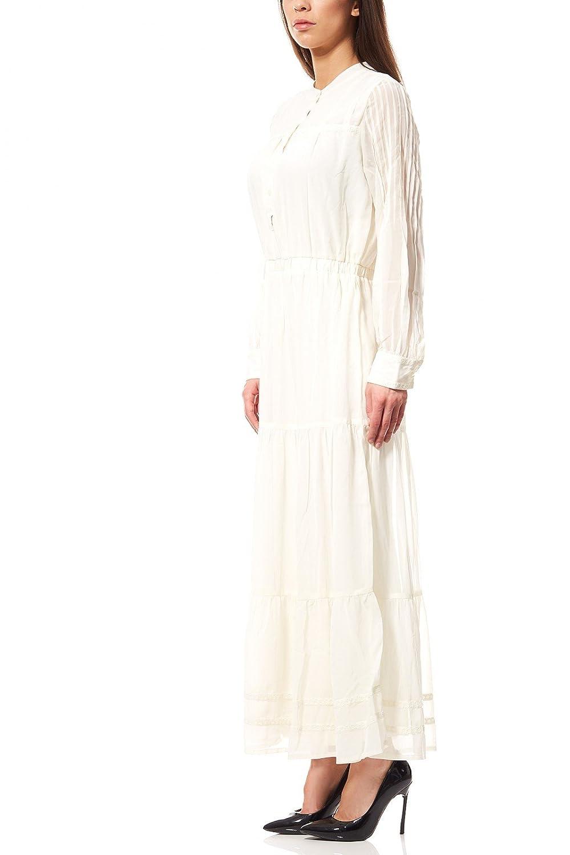 rick cardona heine Kleid Damen Maxikleid Spitzenkleid Kurzgröße Weiß Brautkleid
