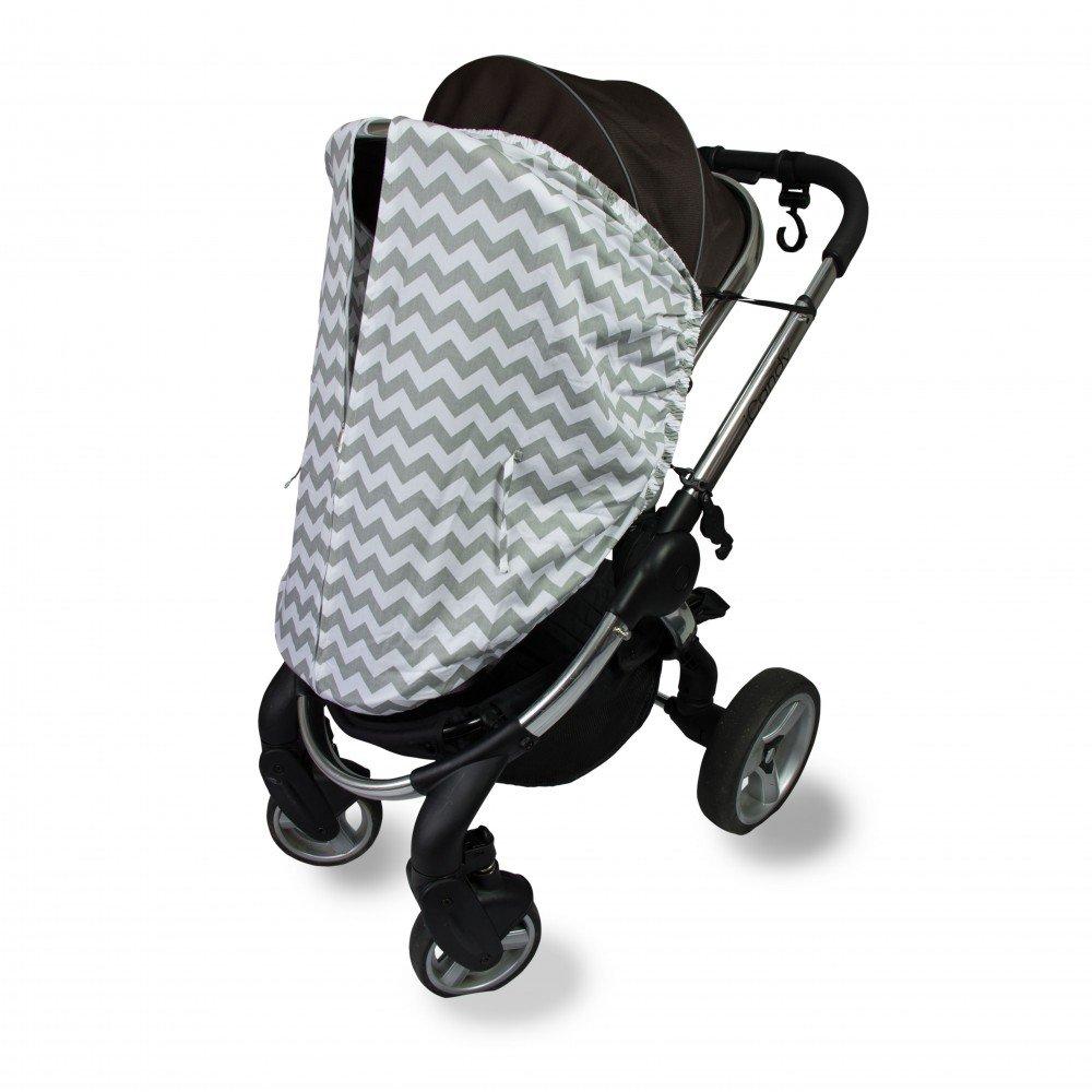 Outlook Universal Cotton Sleep Eazy Stroller Cover (Grey Chevron)