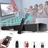 サウンドバー TVスピーカー ホームシアターシステム 高音質内蔵サブウーファー 【Bluetooth/OPT/RCA/AUX /USB 】5つの接続方法 ,壁掛け,リモートコントロール付
