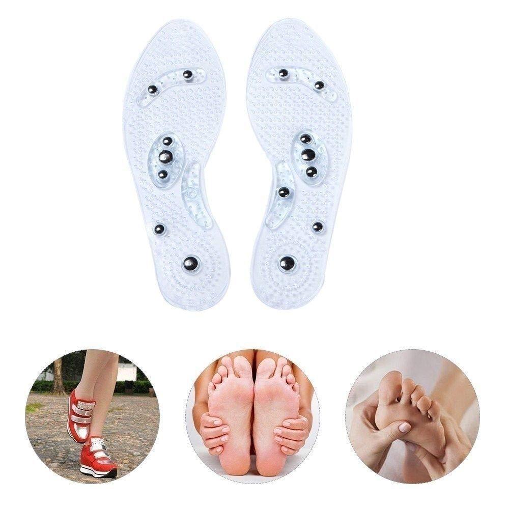 2 Paires Vegena Gel Semelles Semelles magn/étiques de massage, Effet sur la fatigue circulatoire Soulager la th/érapie de la sant/é Semelles de massage Semelles de chaussures Pads pour hommes Femmes
