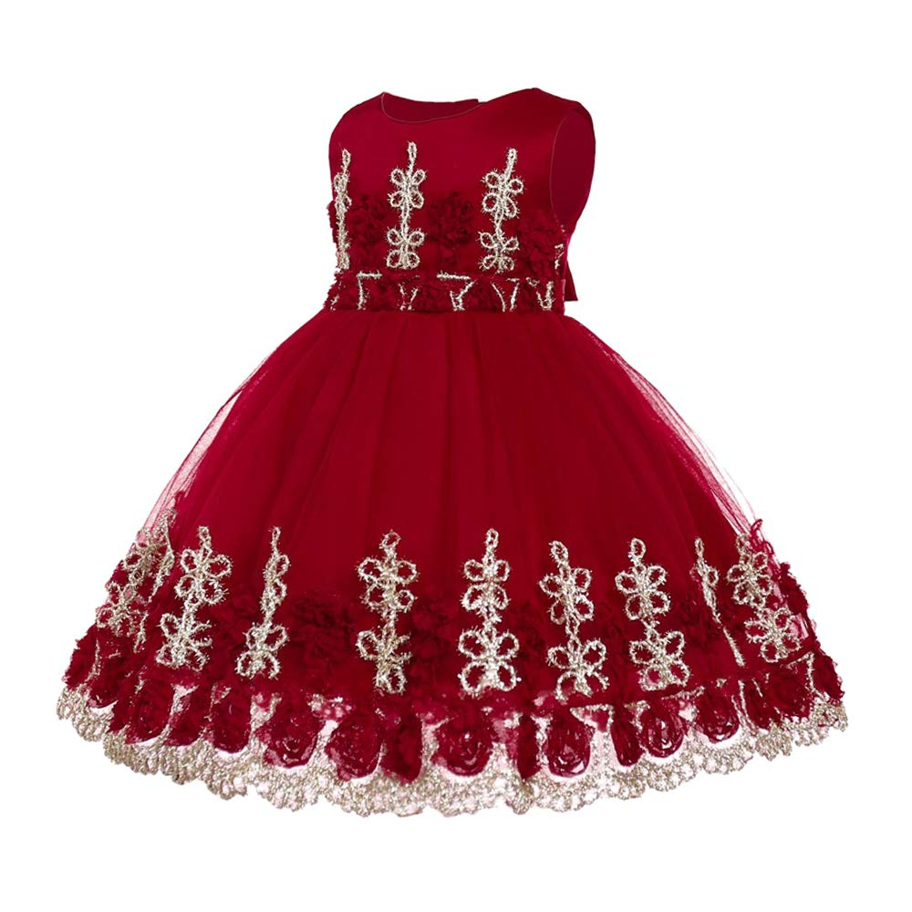 c61628393 KINDOYO Vestido de Fiesta - Princesa de la Moda del Bebé Tutu Vestido de Tul  Regalos de Fiesta para Niños  Amazon.es  Ropa y accesorios