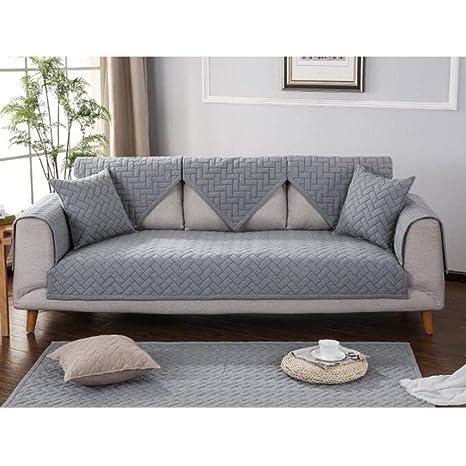Gxzdfdztygh Funda de cojín for sofá de algodón 1/2/3 ...