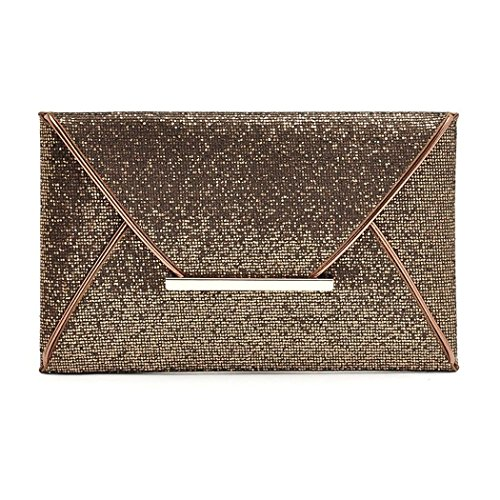 Pure Synthetic Leather Bag Envelop Party Sequined Clutch Color Women OL Ladies Casual qIXxOWwHtF