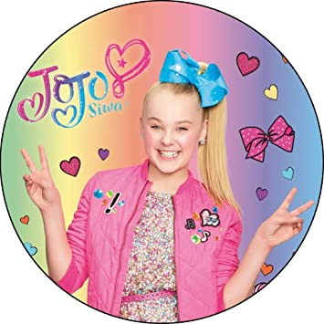 Image Unavailable Not Available For Color JoJo Siwa Peace Sign Birthday Edible Frosting 5quot Round Cake Topper