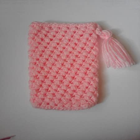 Crochet Mobile Pouches for Women  Pink