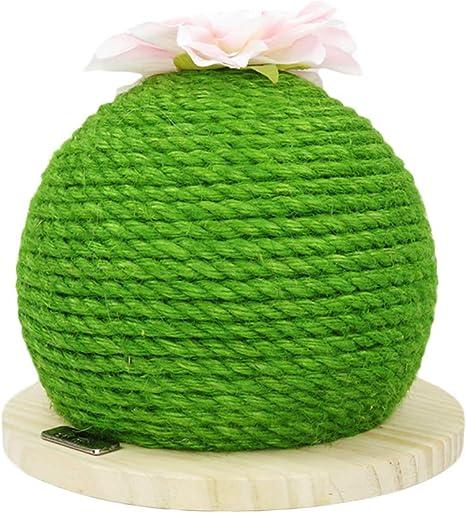 Balacoo - Rascador de cartón con Forma de Pelota de Cactus y ...