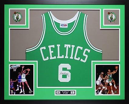 timeless design 7323a 46150 Bill Russell Autographed Green Boston Celtics Jersey ...