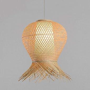 Rishx Bambou En Osier Rotin Pendant Luminaire Asie Rustique ...