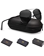 Men Aviator Sunglasses Polarized Women : UV 400 By LUENX,with case 60MM