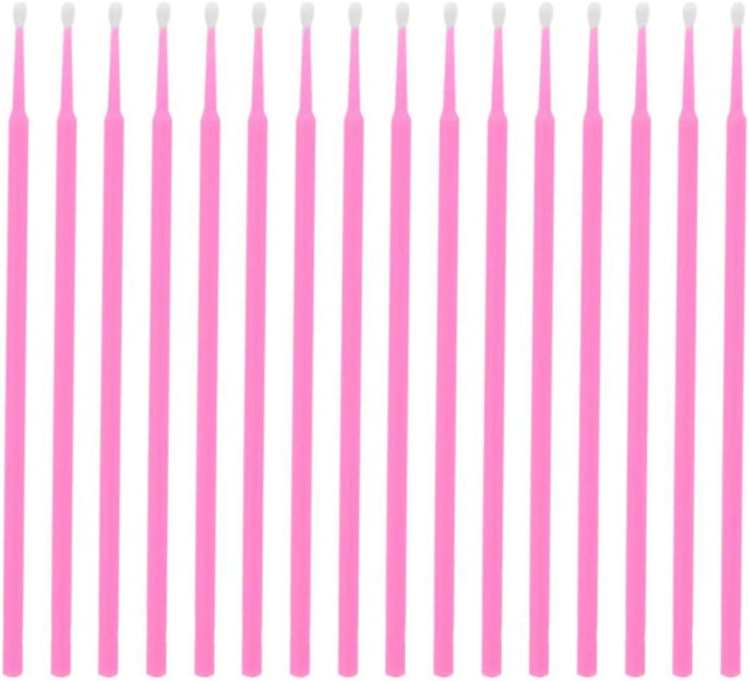 100 St/ücke Einweg Mikrob/ürsten Wattest/äbchen Applikatoren Rohr f/ür Wimpernverl/ängerung Kleber Entfernung Wimpern Transplantat Werkzeuge-Rosa