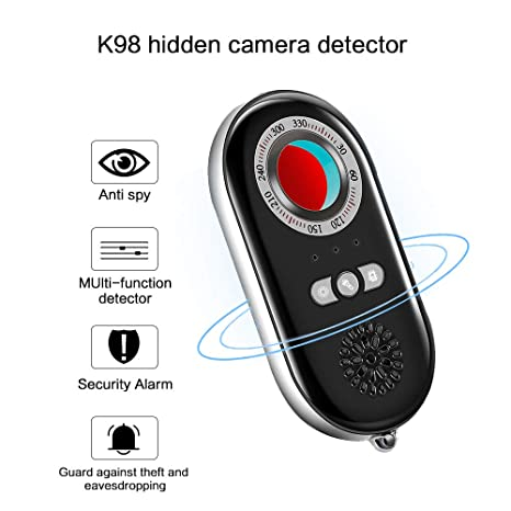 Amityke Anti Spy Hidden Camera Detector RF Bug Detector Wireless Signal Scanner, Personal Security Alarm Security Motion Vibration Sensorfor Travel ...