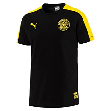 buy popular 364fc 54e48 Borussia Dortmund BVB 09 Puma T7 Retro Football T Shirt ...