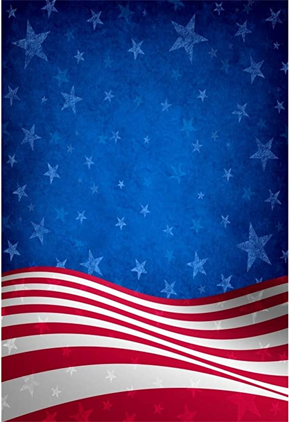Stars and Stripes Backdrop 6x6ft 4th of July USA Independence Day Vinyl Photography Backdrops American Flag Patriotic Labor Day Presents Day Photobooth Children Baby Adult Portraits