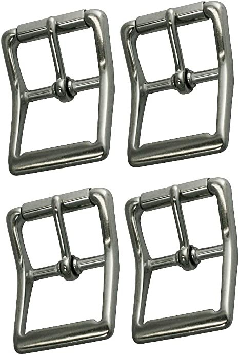 BRASS PLATED NICKEL PLATED 5 PRESSED STEEL ROLLER BUCKLES 1 1//4/""