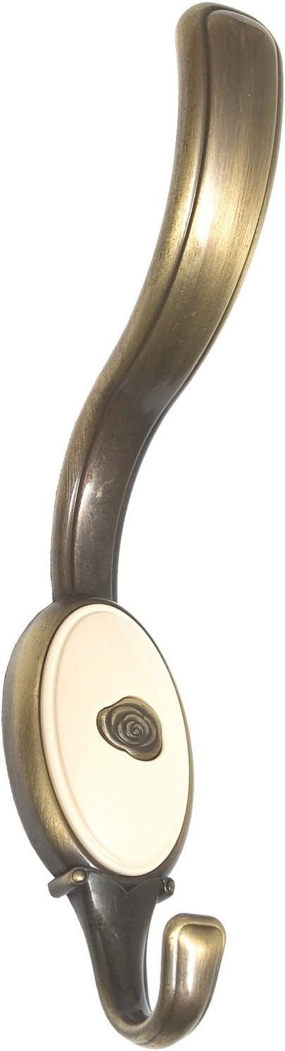 Klassisch Kunststoff chrom gl/änzend wei/ß 1982//ZN1A4 SIRO Kleiderhaken Gro/ßenhein Landhaus 159 mm x 64 mm x 34 mm Vintage Druckguss LA 24 mm