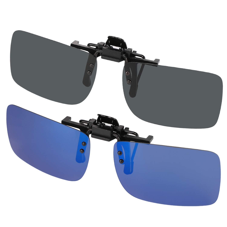 fb040b39cfc Hifot Clip on Sunglasses 2 Pack