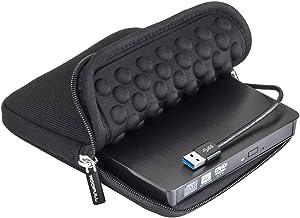 ROOFULL USB 3.0 External CD DVD Drive with Protective Storage Carrying Case Bag, Portable DVD/CD ROM +/-RW Drive Burner Rewriter for Windows 10/8/7, Mac, Linux Laptop Desktop, MacBook Pro/ Air, iMac