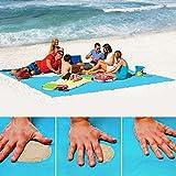 None Sand Free Beach Mat - Ultra Lightweight Sand Proof Free Beach Mat, Waterproof Portable Sandless Blanket for Summer Beach, Picnic, Hiking, Outdoor (200150cm, Blue)