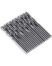 """10PCS 1/8"""" 17mm Ball Nose End Mill CNC Router Bits Double Flute Spiral Set Tool Cutting"""