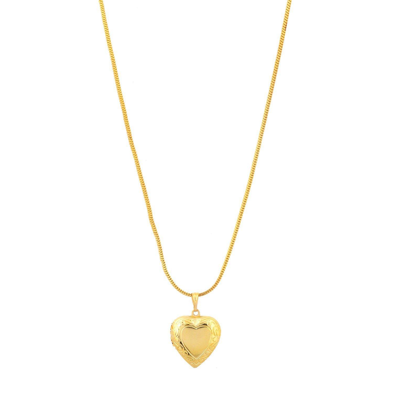 Buy Memoir Gold Plated Heart Shaped Forever Yours Pendant for Men ...