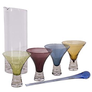 Cocktail Set 6-teilig - Glas Cocktailzubehör- 4 Cocktailgläser ... | {Barzubehör 62}