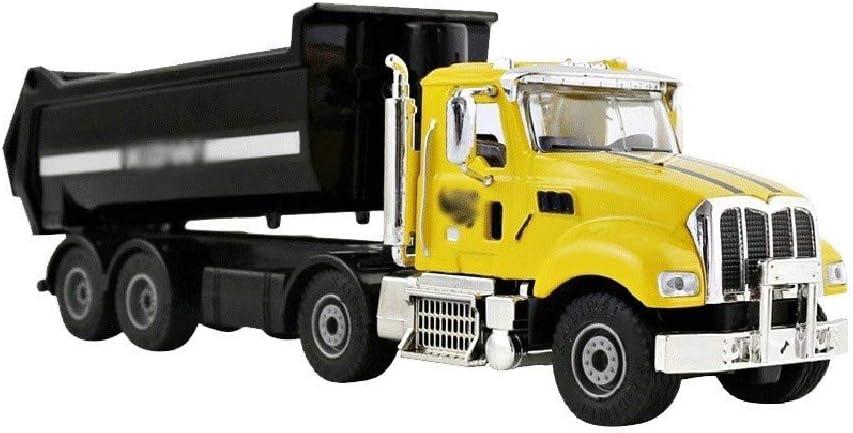 ZHANGLIXIA-TOY Modelo De Coche De Aleación De Obra De Construcción del Camión Volquete De Tapa Dura Vehículo De La Ingeniería del Coche del Carro De Descarga Modelo De Metal (Color : Yellow)