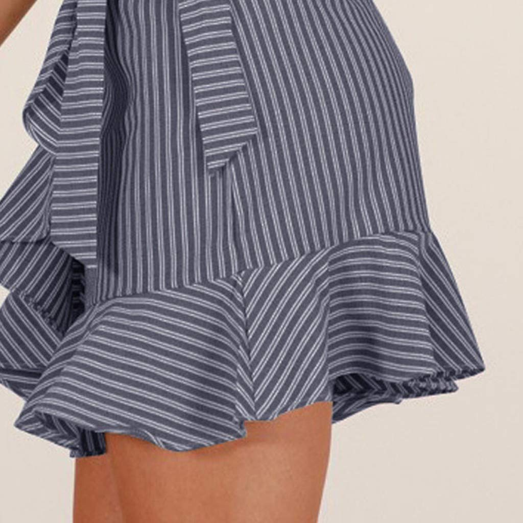 Amazon.com: Tomppy faldas de cintura alta para mujer, casual ...