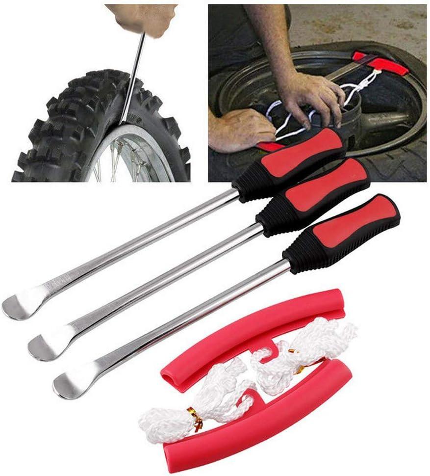 Juego de 3 palancas para llantas, juego de herramientas para quitar neumáticos de motocicleta, bicicleta: Amazon.es: Bricolaje y herramientas