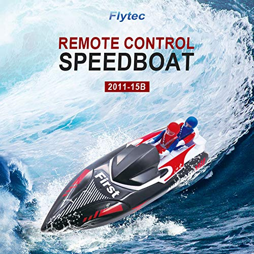 (RC Boat, Remote Control Boat for Pools and Lakes, Fast Racing Boats for Boys & Girls, 2.4Ghz High Speed Remote Control Sail Boats Electric Summer Toys for Kids Adults)