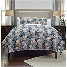 Universal Lighting And Decor Bohemian Indigo Cotton Queen Quilt