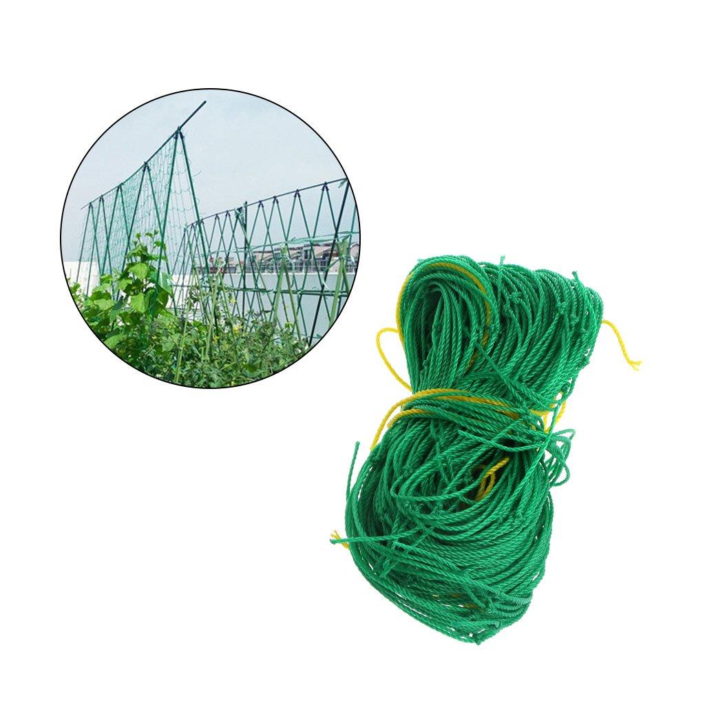 Jiamins Garden Trellis Netting Nylon Support Climbing Bean Plant Nets Grow Fence Vine and Veggie Trellis Net, Green (0.9 x 1.8m/35.43