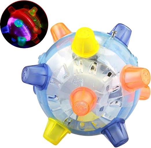 ARTIFUN Juguete de Pelota para Mascotas, LED Luminoso,Juguete para ...