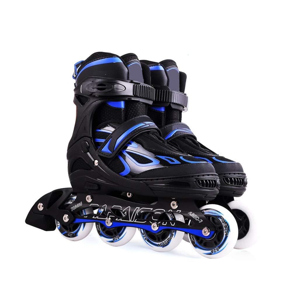 LXP インラインスケート 大人初心者子供一列スケート、プロフェッショナルファンシーオールインラインインラインローラーシューズ、衝突防止衝撃吸収、通気性、4色 高構成プロスケート靴 (色 : 緑, サイズ さいず : 39-43) B07QPDZPYL 26-33 青 青 26-33