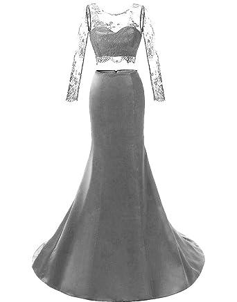 rabais de premier ordre réputation fiable le plus en vogue APXPF Femme Manches Longues Deux pièces Robe de soirée Robe ...
